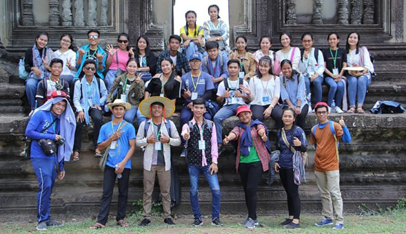 Discipling students in Cambodia
